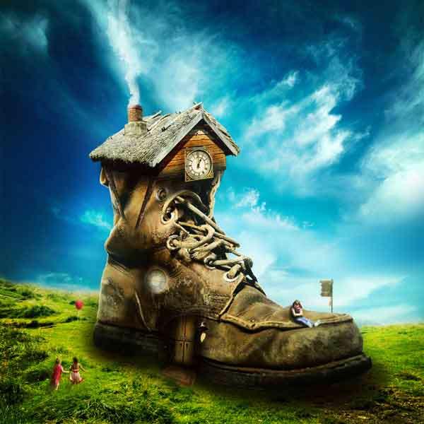 Photo Manipulate a Magical Shoe House Scene