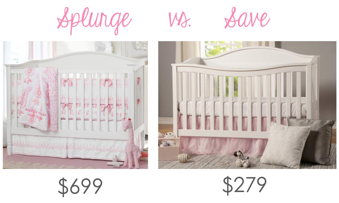 Madeline S Nursery Splurge Vs Save The Blush Magnolia