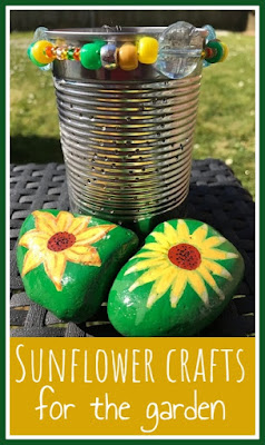 Sunflower crafts for the garden