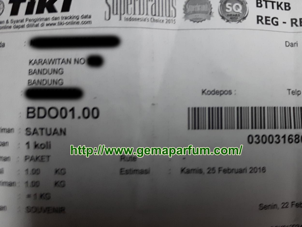 Pengiriman Parfum ke Bandung