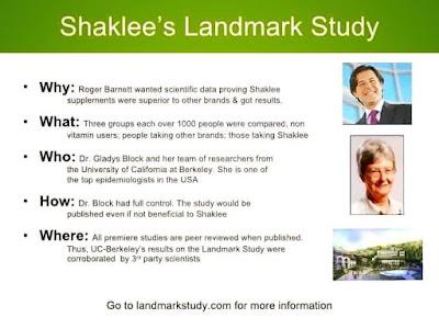 http://elliestory4health.blogspot.com/2016/11/shaklee-landmark-study.html