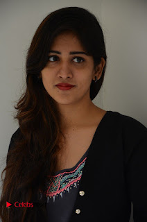 Actress Chandini Chowdary Pictures in Black Jeans at Interview  0016.JPG