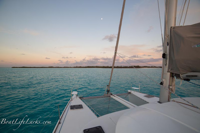 Sunset over Bird Cay, Berry Islands, Bahamas