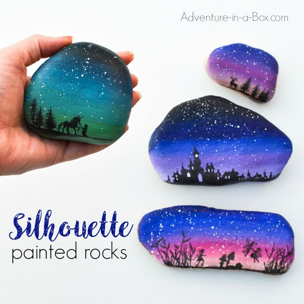 How to paint cool silhouette rocks