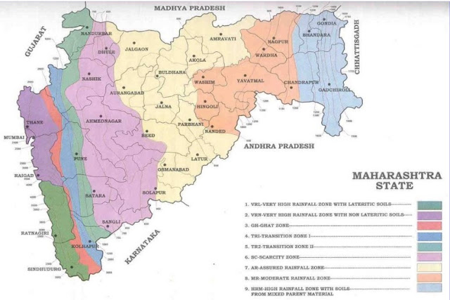 Agroclimatic Zones of Maharashtra