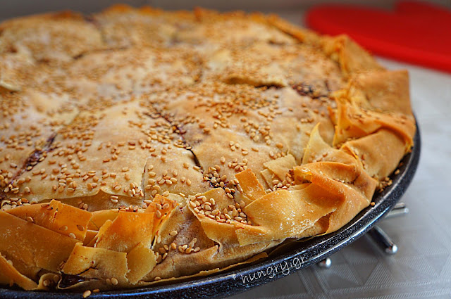 Onion Pie with Country Style Phyllo Sheet