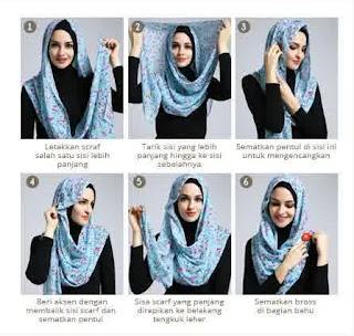 Tutorial hijab scarf segi empat simpel