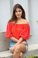 Rhea Chakraborty in Red Crop Top and Denim Shorts Spicy Pics ~  Exclusive 325.JPG