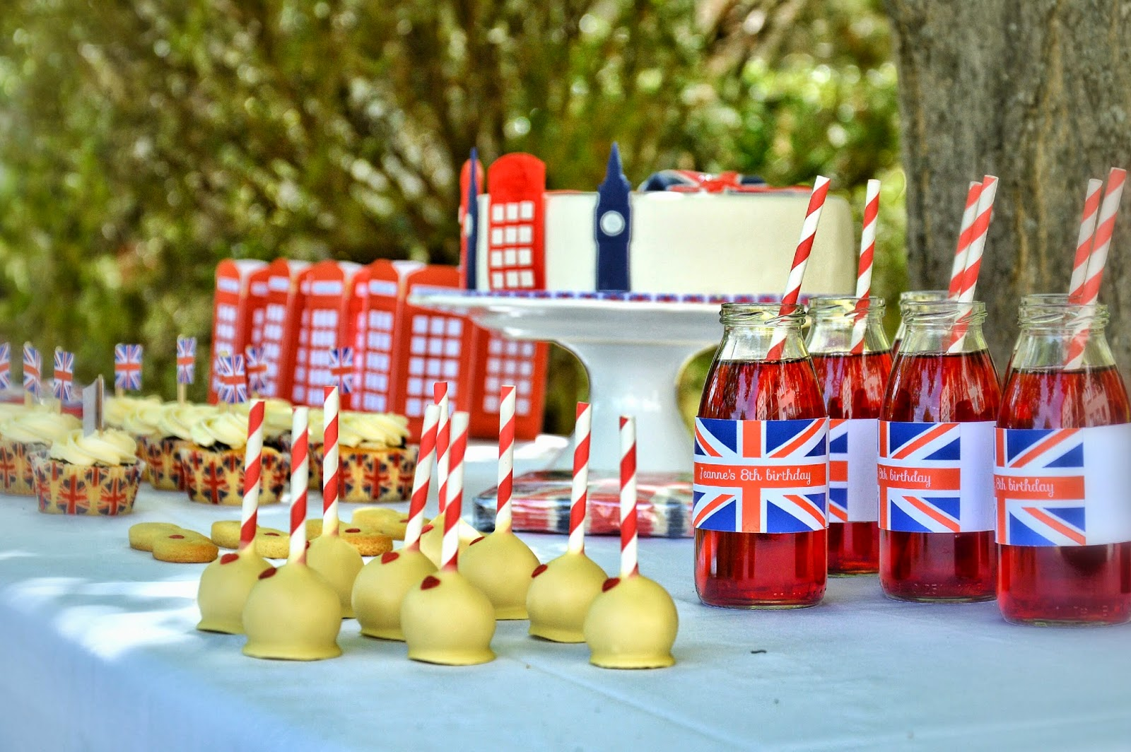 table d'anniversaire avec personnalisation londres