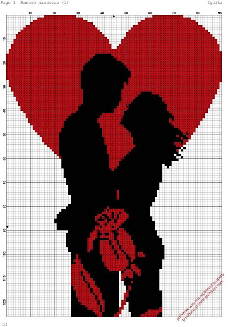 Dia dos Namorados Especial Em Ponto Cruz Com Gráficos