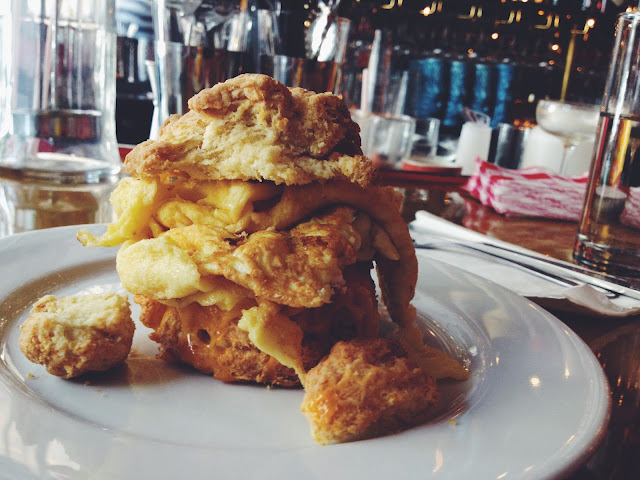 Egg Biscuit Sandwich at Butter & Scotch in Crown Heights, Brooklyn