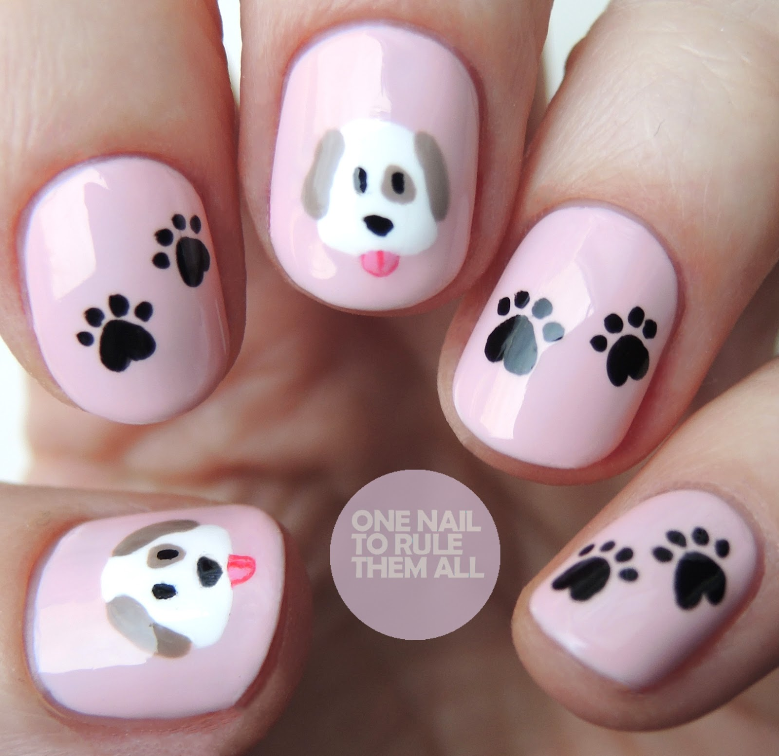 One Nail To Rule Them All: Emoji Dogs