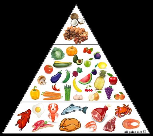 Pirámide de una dieta paleo