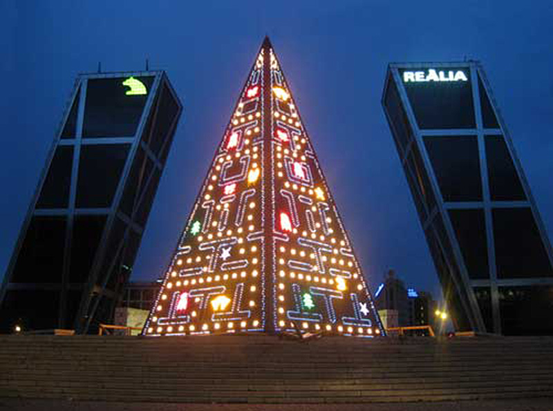 The Pac Man Christmas Tree