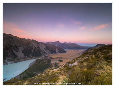 Aoraki, Meuller Lake, Mt Cook, Sealy Tarns, Sunset