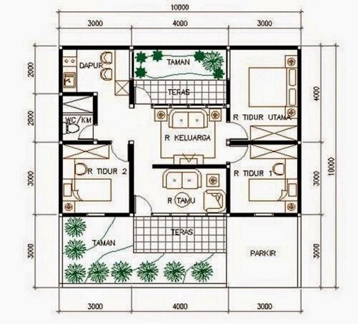 denah rumah sederhana minimalis kreatif