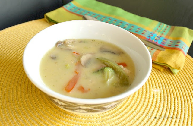 creamy chicken soup vegetables light meal all year