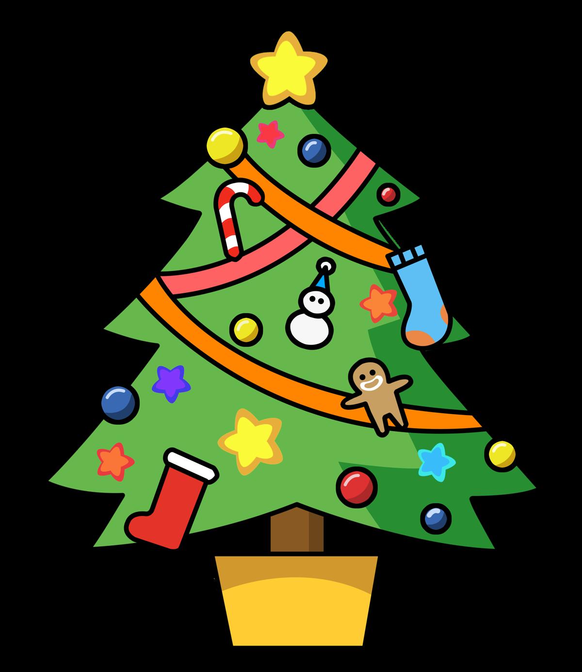 Mewarnai Gambar Pohon Natal Yuk Warnai