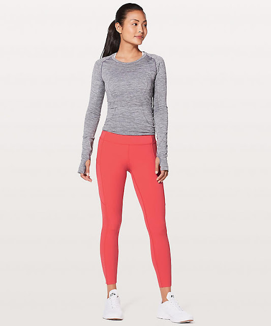 lululemon red-orange fast-and-free