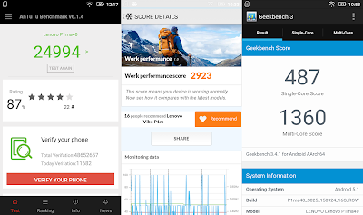 Lenovo Vibe P1m Benchmark Scores