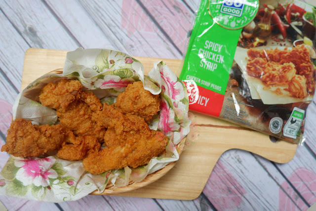 produk baru so good so good spicy chicken strip cara memasak so good spicy chicken strip kandungan so good spicy chicken strip camilan sehat camilan pedas