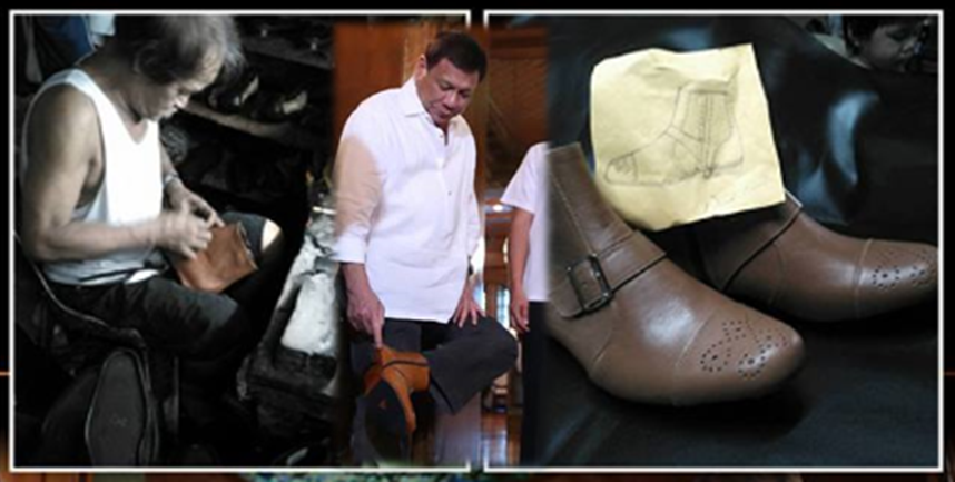 Duterte wears boots given by 68-year-old Marikina shoemaker