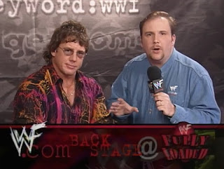 WWE / WWF - Fully Loaded 1998 - Kevin Kelly & Tom Pritchard man the WWF.com booth