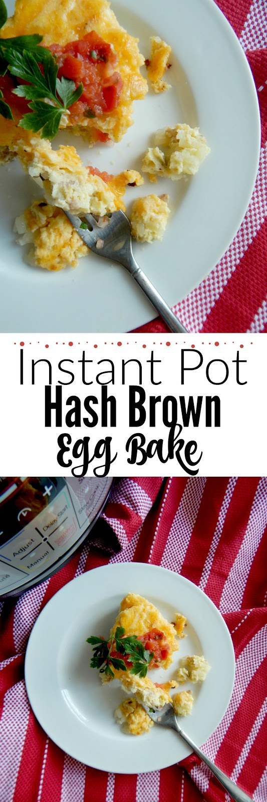 Instant Pot Hash Brown Egg Bake...an easy, quick and delicious, hearty breakfast!  Filled with sausage, hash browns, green chiles and of course eggs - make this for your back-to-school mornings and watch everyone devour. #ad #iowaegg (sweetandsavoryfood.com)