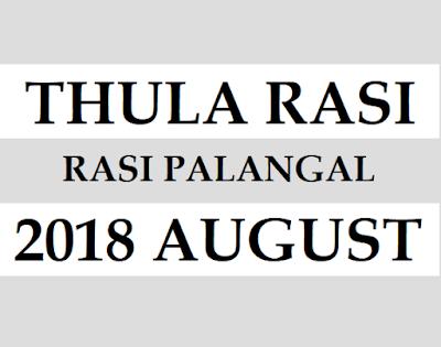 Thula Rasi Phalalu 2018 August