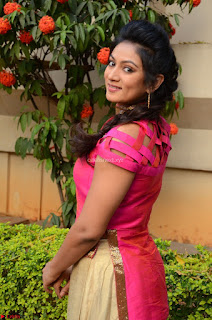 Ashmita in Pink Top At Om Namo Venkatesaya Press MeetAt Om Namo Venkatesaya Press Meet (14).JPG