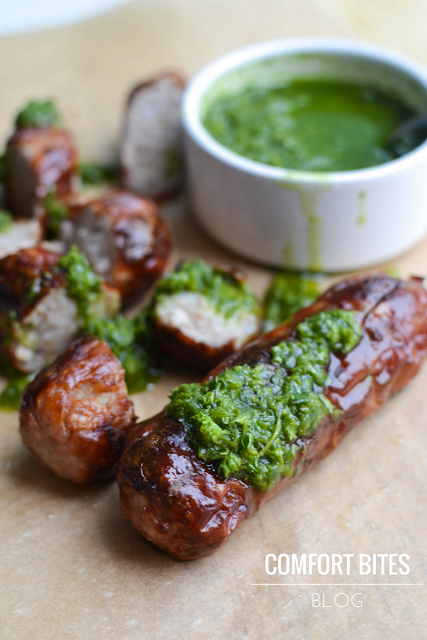 Wild Garlic Chimichurri - AIP paleo dairyfree low FODMAP