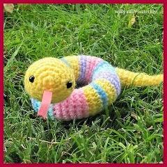 Serpiente en versión amigurumi