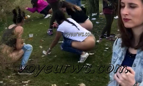 Girls Gotta Go 48 (Voyeur pee videos - Drunk spanish chicks peeing in public at festival)