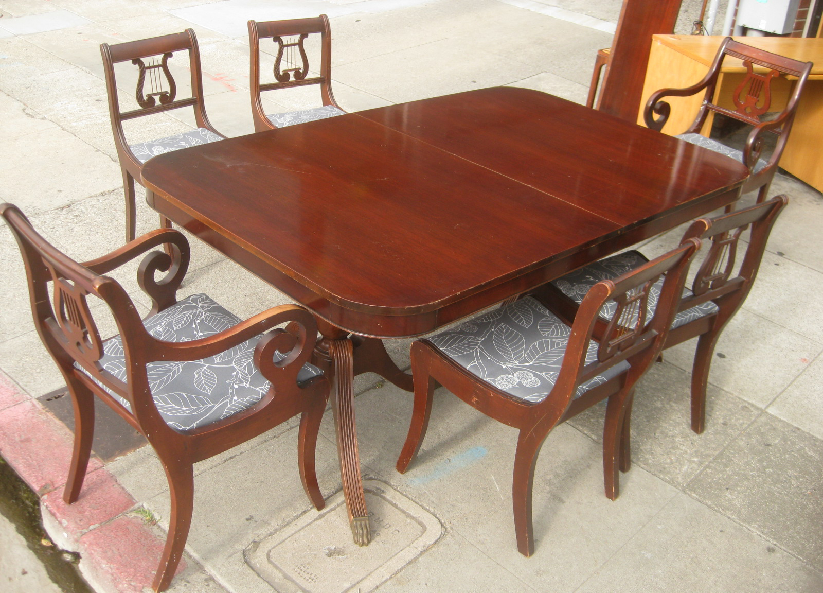 Sold Duncan Phyfe Mahogany Dining Set 200 Includes Table