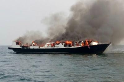 Mesin terbakar, ABK tidak memberikan informasi kepada para penumpang.