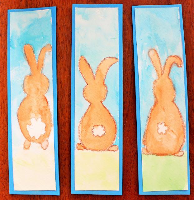 Mamma gioca segnalibri con gli acquerelli vagamente pasquali - Foglio colore coniglietto pasquale ...