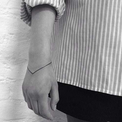 geometrik çizgi bilek dövmeleri geometric line wrist tattoos