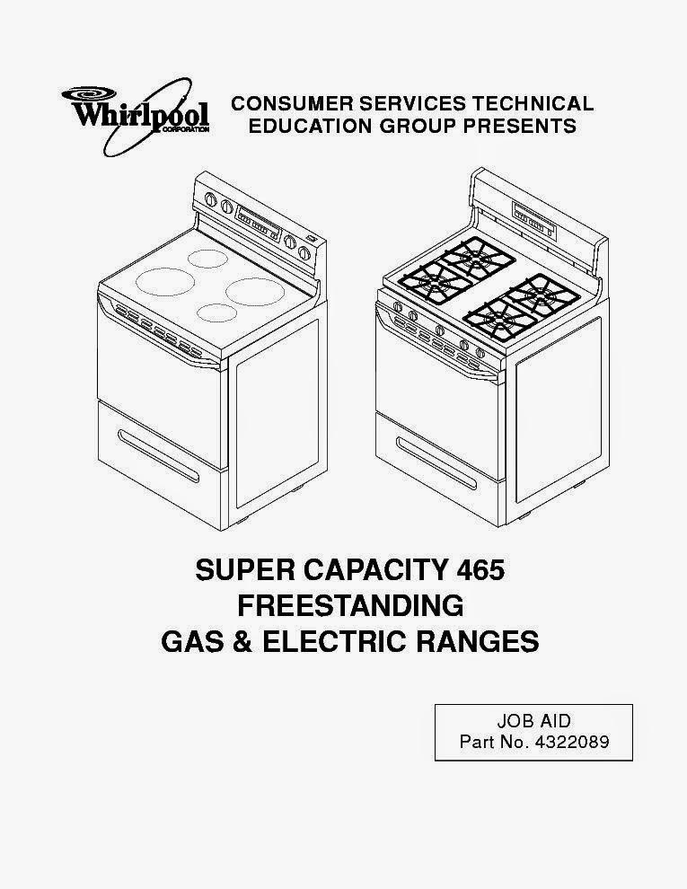 WHIRLPOOL SUPER CAPACITY 465 USER MANUAL