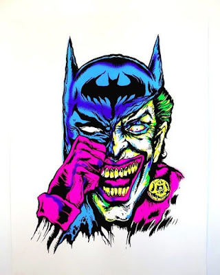 "C2E2 2016 Exclusive Batman ""JokeBat"" Screen Print by L'Amour Supreme x Pop Inked"