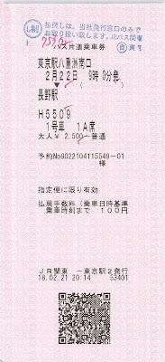 JRバス東京駅発行 WILLER EXPRESS 乗車券