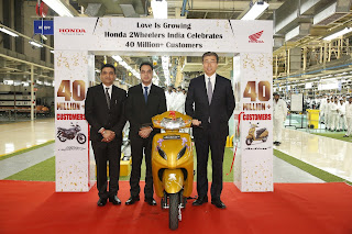 Honda 2Wheelers cross 40 Million Sales Mark