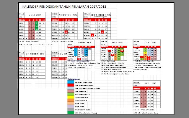 Download Kalender Pendidikan Terbaru Tahun 2017 2018 Lengkap Sd Smp Sma Akademik Guru