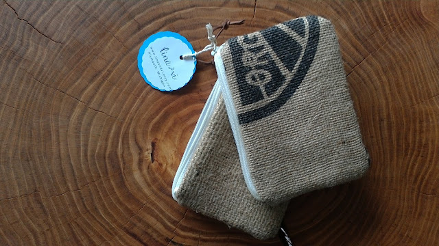 Burlap Zipper Pouch Bundle Set by Lina and Vi - upcycled - handmade - repurposed - made in michigan - www.linaandvi.etsy.com