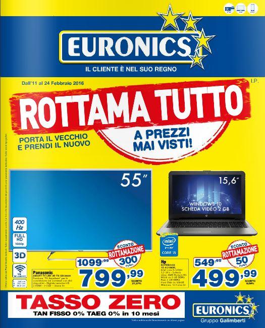 Volantino Euronics Galimberti - 11-24 Febbraio 2016 - Ultimo - Nuovo