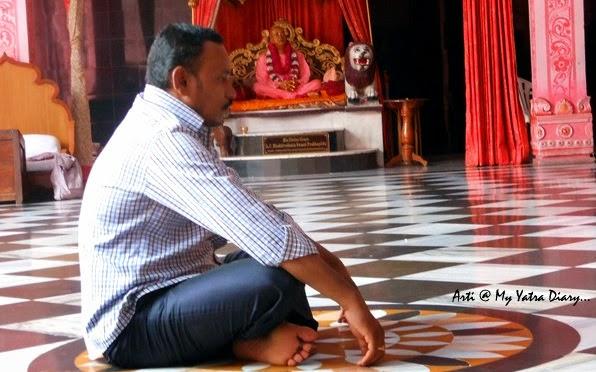 A bhakta in meditation, ISKCON Temple, Hyderabad Abids, Andra Pradesh