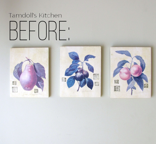 Make It Your Own Wall Art Revamp by Tamdoll Before Pic