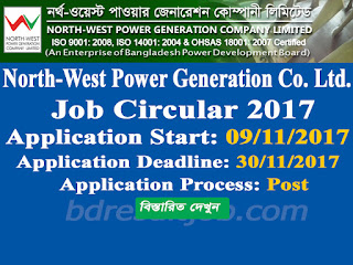 North-West Power Generation Co. Ltd. Job Circular 2017