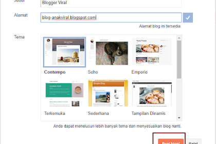 Tutorial Lengkap Membuat Blog Bagi Pemula, dari Cara Buat, Ganti Template, Edit Template dan Tambah Menu