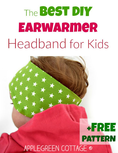 The best earwarmer headband tutorial - and free 3-size PDF sewing pattern! This perfect headband pdf pattern will add a pop of color to your kids' fall wardrobe AND let them stay WARM outdoors this fall. Free headband sewing pattern is a pdf printable in 3 sizes
