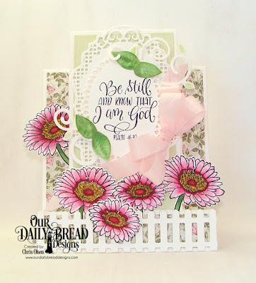 Our Daily Bread Designs Stamp/Die Duos: Call to Me, Paper Collection: Romantic Roses, Custom Dies: Center Step A2 Card, Center Step A2 Layers, Fence, Ornate Ovals, Vintage Labels, Fancy Foliage